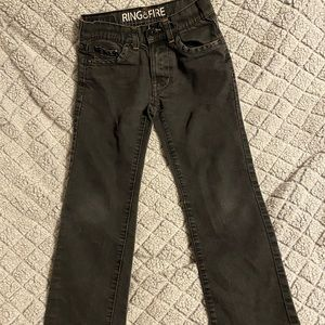 Ring of Fire Boy's Size 8 Black Jeans